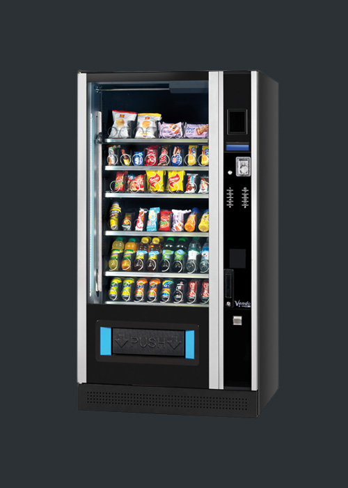 Snackautomaten kaufen mit Lebensmittelkühlung Modell Design Line mit Cafebar Automatenservice
