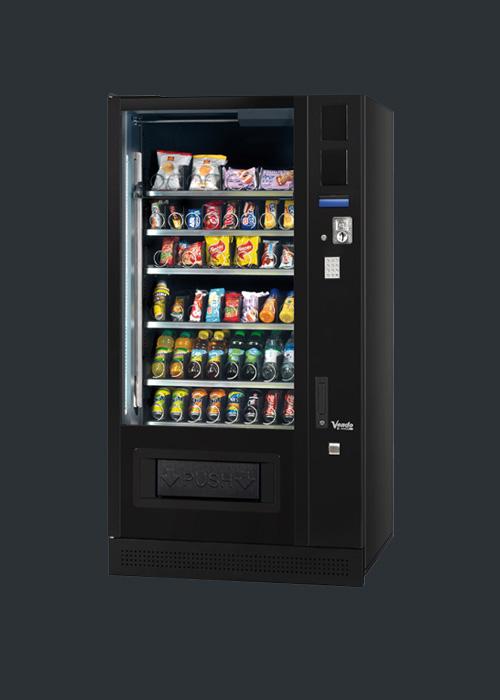 Snackautomaten kaufen mit Lebensmittelkühlung Modell SM8 mit Cafebar Automatenservice